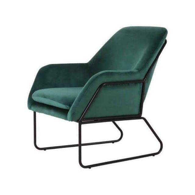 Mathi Design Abisko - Fauteuil en velours vert
