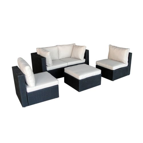 CONCEPT USINE - Milano blanc: salon de jardin modulable 5 places ...