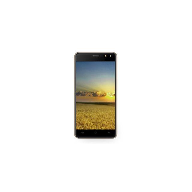 Auto-hightech Smartphone double caméras 5,5 pouces Android 6.0 Quad-core 3G Smartphone 1Go + 8Go - Or