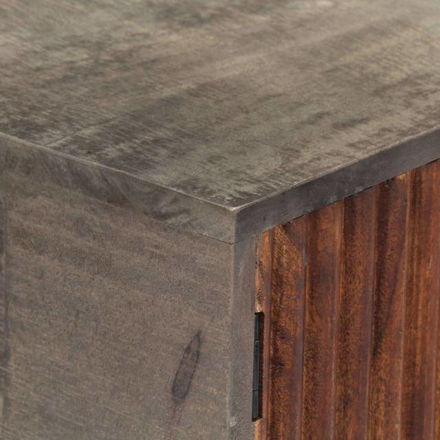 Icaverne - Tables d'appoint reference Table console Gris 120x35x75 cm Bois de manguier massif brut