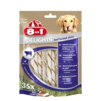 8IN1 - Delights Twisted Sticks Beef 35pcs Os a mâcher pour chien