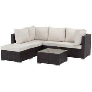 habitat et jardin salon de jardin en r sine tress e boston buffalo marron pas cher achat. Black Bedroom Furniture Sets. Home Design Ideas