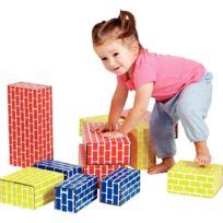 - briques en carton couleurs assorties - paquet de 36