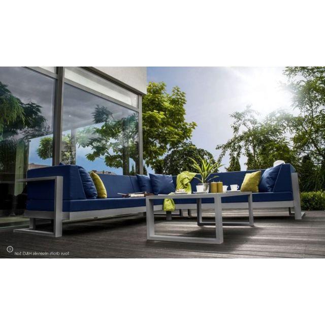 House and Garden - Salon De Jardin 6 Places Angle Droite Toscane ...