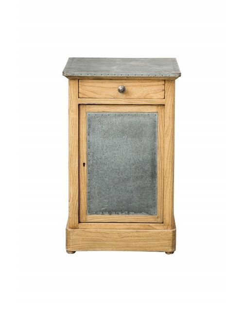 decoshop petit meuble d 39 appoint en bois et m tal pas cher achat vente chevet rueducommerce. Black Bedroom Furniture Sets. Home Design Ideas