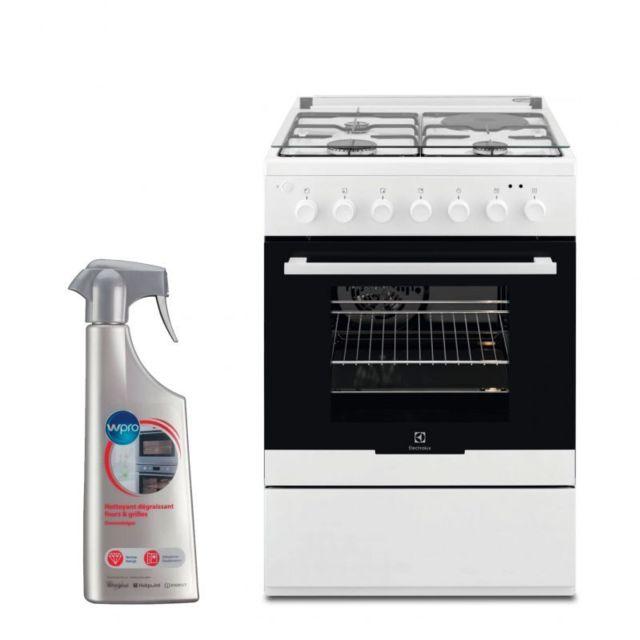Electrolux Cuisiniere Mixte blanc 60x60cm Four Catalyse 54L Multifonction 5 modes de cuisson