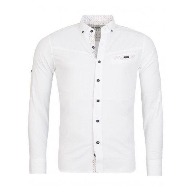 455cec3fd446e Beststyle - Chemise homme tendance blanche XL - pas cher Achat ...