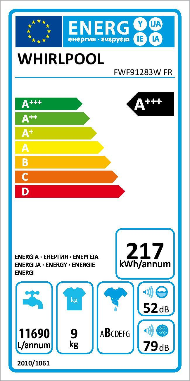 Lave-linge hublot  Fresh Care + - FWF91283WFR