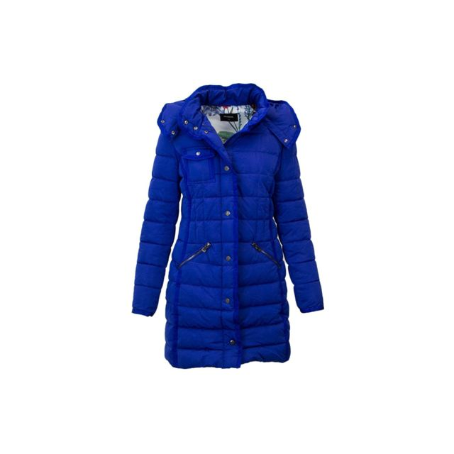 Desigual Manteau Femme Inga Bleu 18WWEWBR Taille 44
