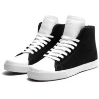 Thunder High Black Suede White Action