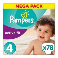 Pampers - Active Fit Pack 78 Couches Taille 4 8-16 kg