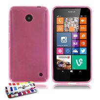 """Muzzano - Coque Souple Ultra-Slim """"Le Glossy Premium"""" Rose pour Nokia Lumia 635"""