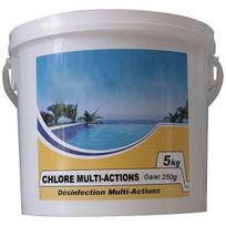 Nmp - chlore lent multi-fonctions galet 250g 5kg - chlore multi-actions 250