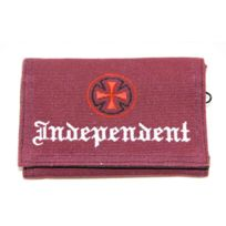 Independent - Portefeuille Tri fold Oe Cross Oxblood