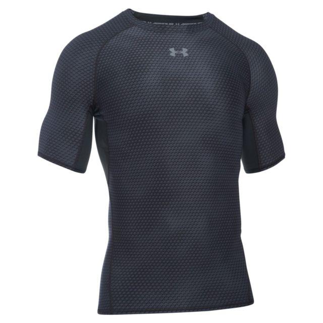 Under Armour - T-shirt Compression Ua Heatgear® Armour Imprimé à Manches  Courtes Pour 713e062af8ad