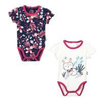 Lot de 2 bodies manches courtes bébé fille Pink Bunny - Taille - 9 mois 6ef1bf06467