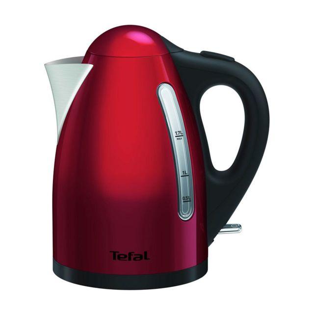 TEFAL Bouilloire Rouge Inox 2400W 1,7L KI110511 pas cher
