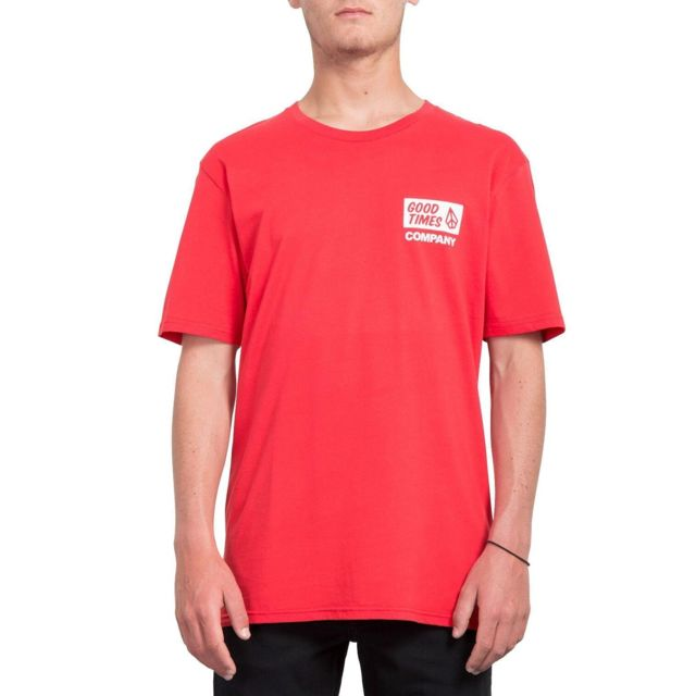 Volcom T shirt Is Good Rouge Homme pas cher Achat