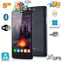 Yonis - Smartphone 4G Android 5.1 Dual Sim 5 pouces Quad Core 8 Go Noir