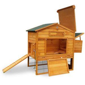 poulailler en bois 4/8 poules lbh jardin - cottage