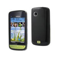 Kabiloo - Housse - Coque arrière minigel noire glossy Nokia C5-03