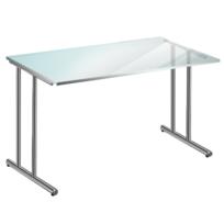 Kerkmann - Bureau professionnel à plateau en verre - 120 x 80 cm - verre et acier