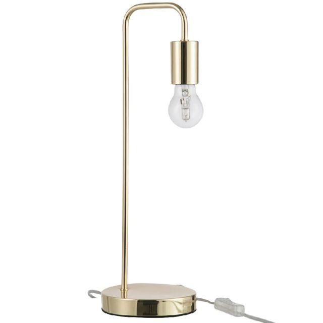 Jolipa - Lampe à poser en métal Doré