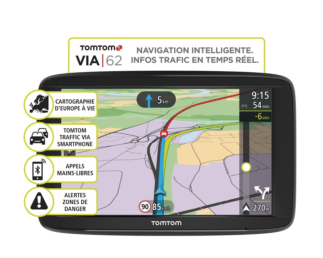 tomtom gps voiture via 62 europe achat vente gps. Black Bedroom Furniture Sets. Home Design Ideas