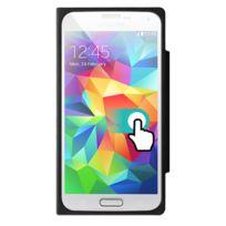 Colorblock - Etui à rabat tactile noir pour Samsung Galaxy S5 G900