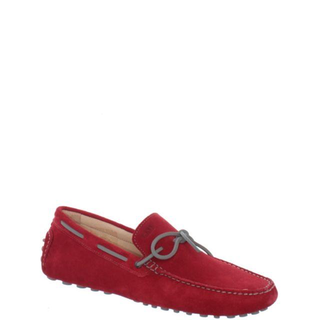 Baxton - Chaussure bateau ref bomends35163-rouge - pas cher Achat   Vente  Mocassins - RueDuCommerce dd4c111c98d