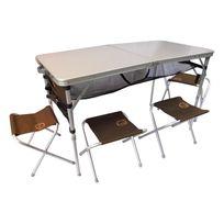 O'CAMP - Set table valise et tabourets