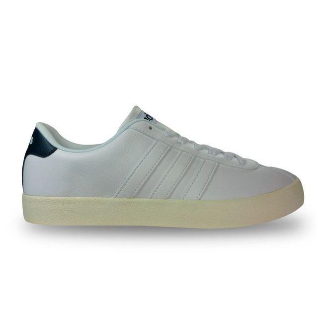 best website 240b7 11b6a Adidas - Chaussure court vulc néo blanche - pas cher Achat   Vente Baskets  homme - RueDuCommerce
