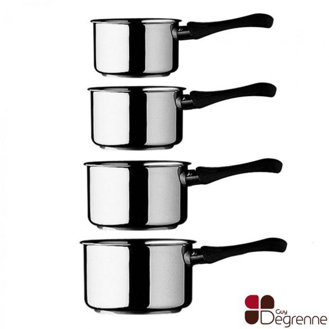 Guy Degrenne Série de 4 casseroles de 14 - 16 - 18 - 20 cm - 30 % - Actuelle Induction