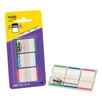Post-it - Marque-pages strong couleurs unis classique - distributeur de 66 index