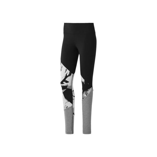 Reebok - Legging Workout Ready Cotton Series Aop Panel noir blanc femme  Multicolour - XS - pas cher Achat   Vente Pantalons feca538d141