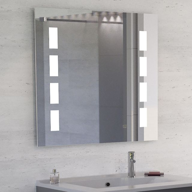 Creazur Miroir Led anti-buée Mosaic - 90x80 cm - avec interrupteur sensitif