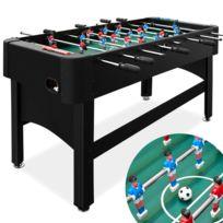Rocambolesk - Superbe Baby foot noir 22 kg - table de football babyfoot 2 balles 22 joueurs - jeu café Neuf