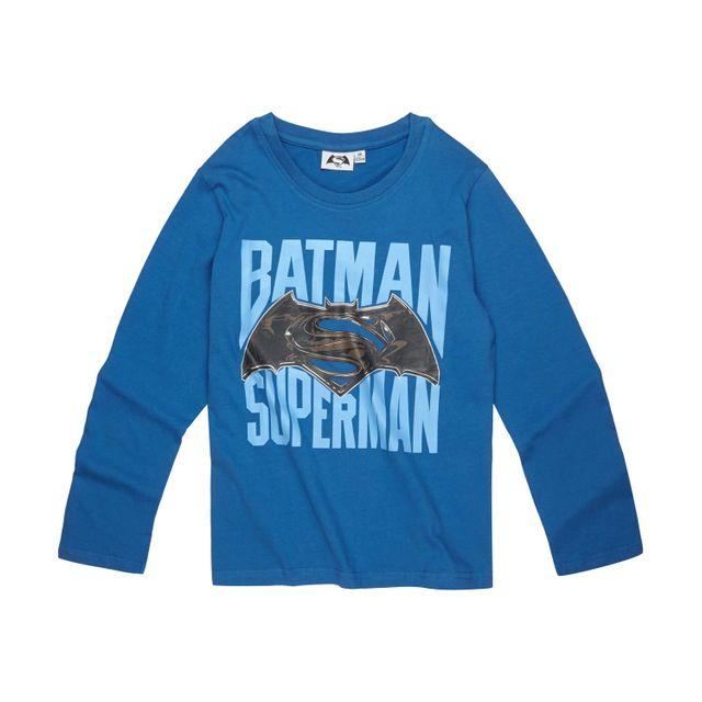 351d41c7d9bf9 Batman Vs Superman - Garcon Tee-shirt manches longues Bleu - pas cher Achat    Vente Tee shirt enfant - RueDuCommerce
