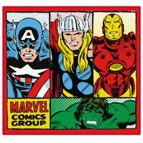 Character World - Tapis Carré Retro Avengers Marvel