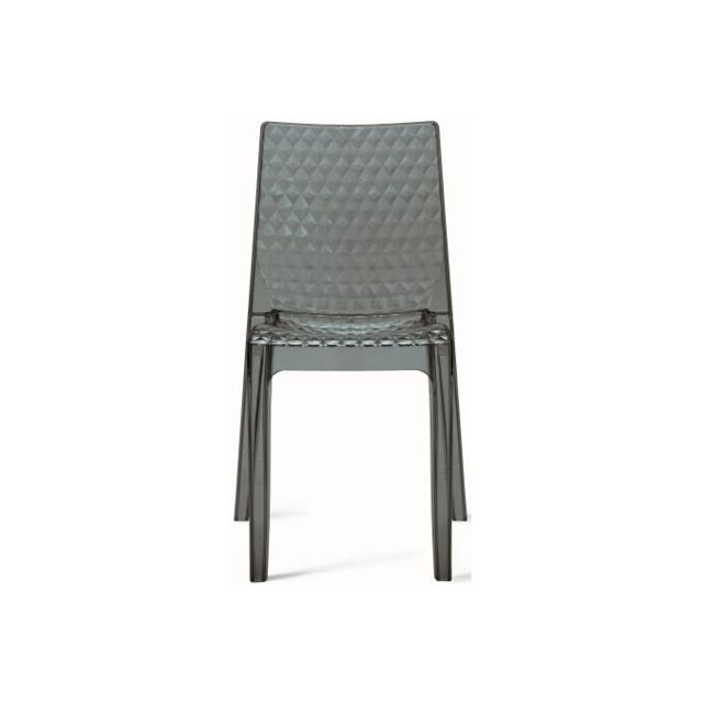 Declikdeco Chaise Design Transparente Grise Delphes
