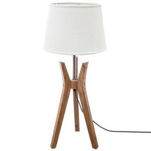 "Paris Prix - Lampe à Poser Design ""Kalo"" 65cm Beige 0cm x 0cm x 0cm"
