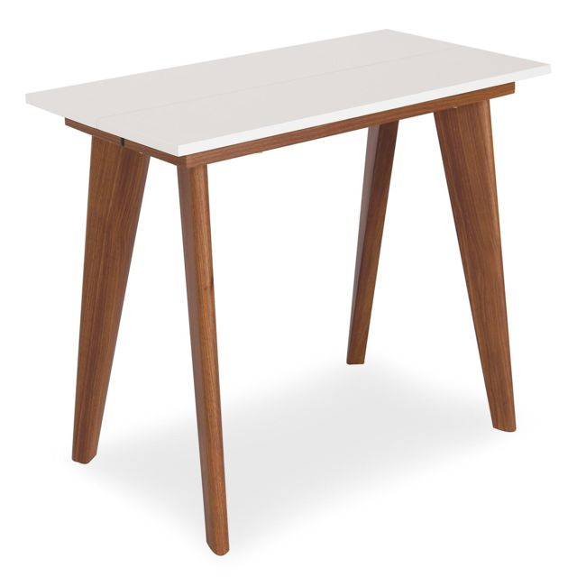 MENZZO Table Console extensible Flavie Blanc