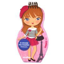 Playbac - Carnet créatif Minimiki : Je dessine mes poupées françaises avec Emma