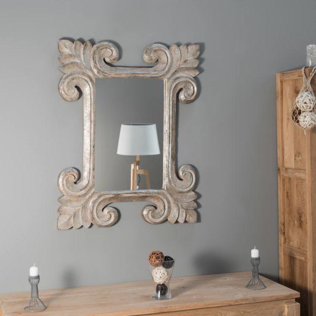 Wanda Collection Miroir Tolède bronze 80 x 100cm