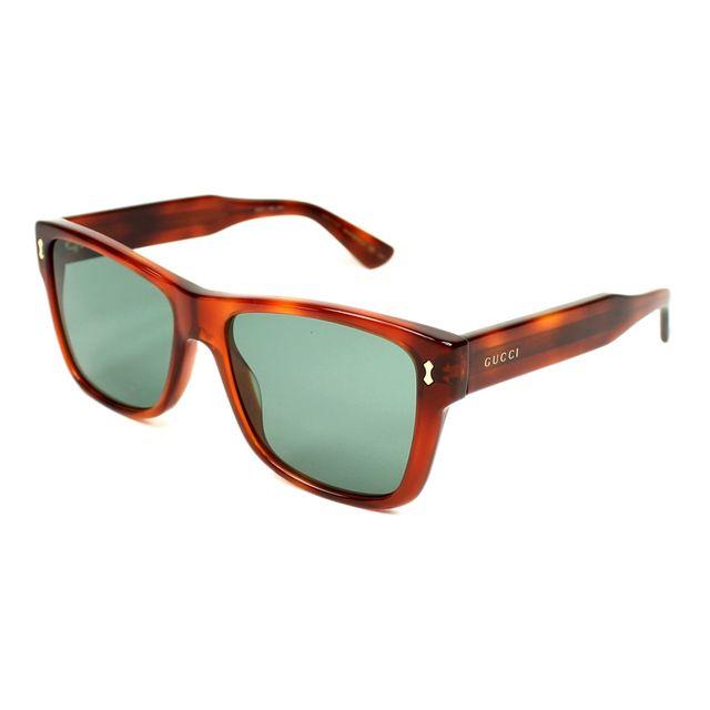 69fc0e872f638c Gucci - Gg-0052-S 002 Havane transparent - Lunettes de soleil - pas ...