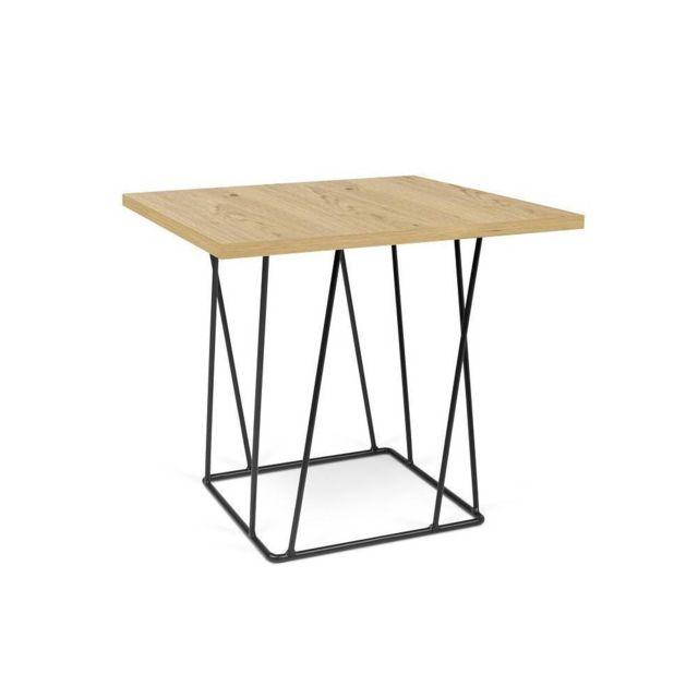 Inside 75 Table basse Helix 50 chêne structure laquée noire