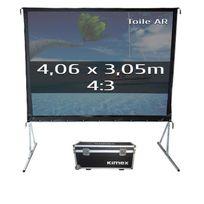 Kimex - Ecran de projection valise 4,06 x 3,05m, format 4:3, Toile Arrière