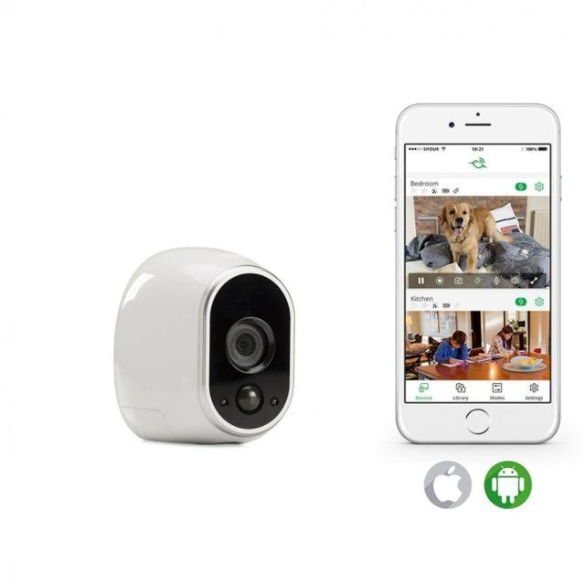 arlo cam ra de surveillance additionnelle pas cher achat vente pack telesurveillance. Black Bedroom Furniture Sets. Home Design Ideas