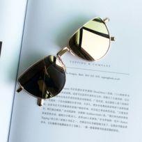 Wewoo - Lunettes de soleil rouge et or New Style Fashion Uv400 lunettes de  polarisées personnalité c30f263aaac2