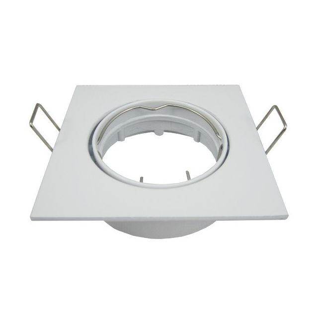 Arumlighting Support spot Led orientable carré D82 Blanc